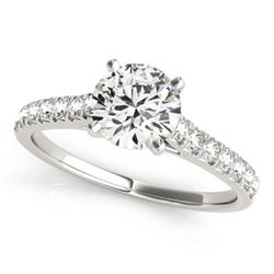 1 CTW Certified VS/SI Diamond Solitaire Ring 18K White Gold - REF-149K3W - 27585