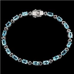 Natural Sky Blue Topaz Bracelet