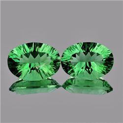 Natural Paraiba Green Fluorite Natural Pair 14x10 MM
