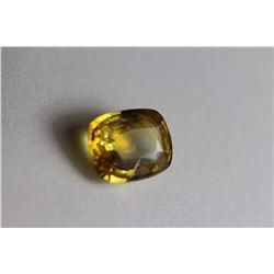 Natural Greenish Yellow Sapphire 4.60 Carats