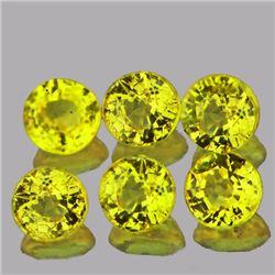 Round Natural Intense Yellow Sapphire 3.00 MM