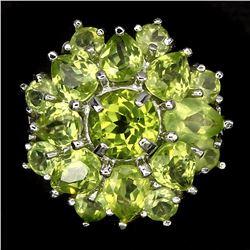 Natural Rich Green Peridot 29 Carats Ring