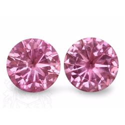 Natural Pink Round Sapphire Pair 2.52 Carats - VVS