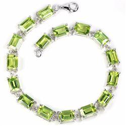 Natural Peridot 65 Carats Bracelet
