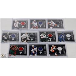 10 PATCH HOCKEY CARDS