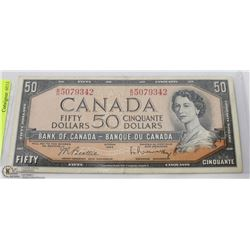 CANADIAN 50 DOLLAR BANK NOTE 1954