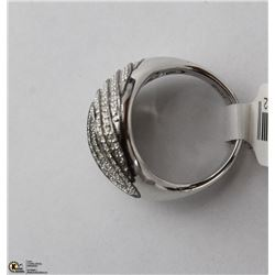 50)14KT WHITE GOLD WITH 184 DIAMONDS RING SIZE 7