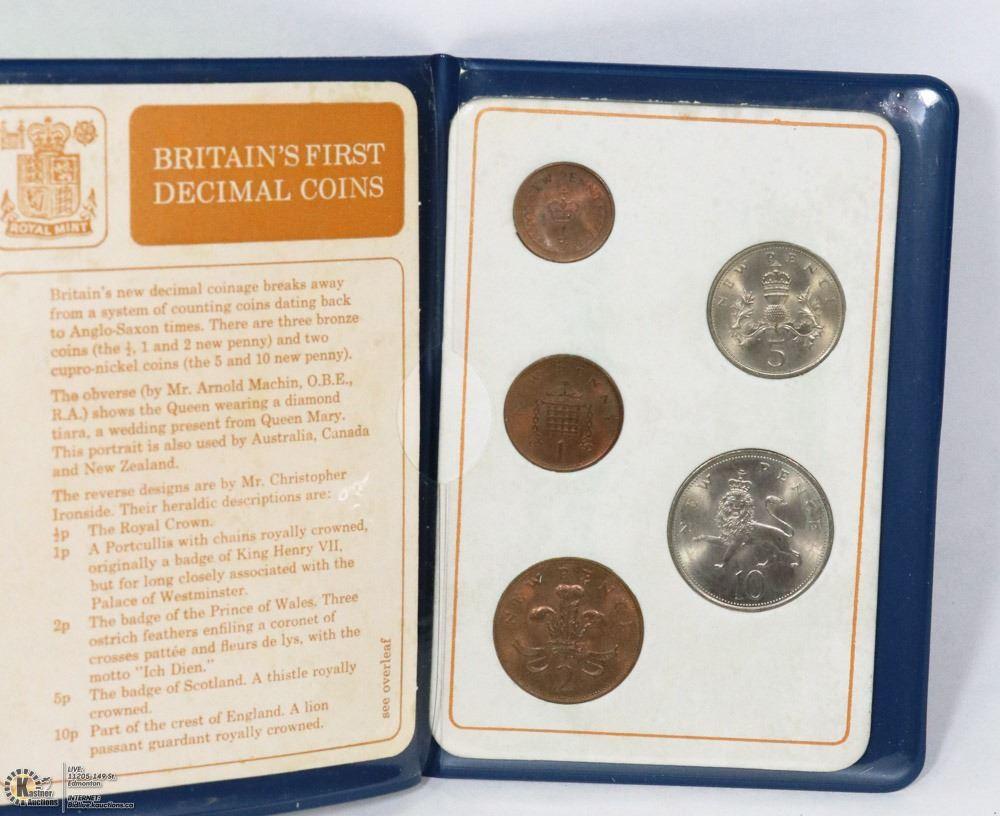BRITAIN'S FIRST DECIMAL COINS PRESENTATION SET