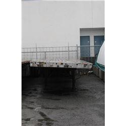 UNCERTIFIED - BUYER MUST CERTIFY 2002 WILSON 48 FT FLATDECK COMMERCIAL TRAILER, VIN #