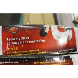 3 INCH BY 30 FT RECOVERY STRAP 2700 LB BREAKING STRENGTH