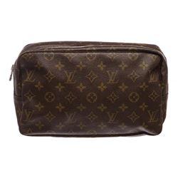 Louis Vuitton Monogram Canvas Leather Toiletry Pouch Bag