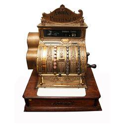 Vintage Brass Cash Register