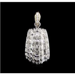 1.53 ctw Diamond Pendant - 18KT White Gold