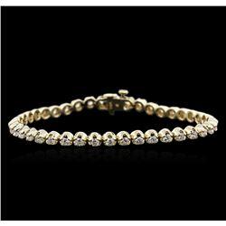 14KT Yellow Gold 3.35 ctw Diamond Tennis Bracelet