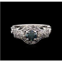 1.30 ctw Fancy Blue Diamond Ring - 14KT White Gold