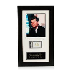 John F. Kennedy Signed Cut Display PSA Certified