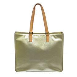 Louis Vuitton Green Vernis Monogram Leather Columbus Shoulder Bag
