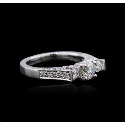 18KT White Gold 1.07 ctw Diamond Ring