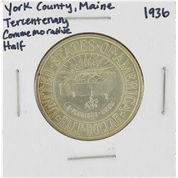 1936 York County, Maine Tercentenary Commemorative Half Dollar Coin