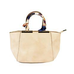 Lindsey Beige Embroidered Handbag