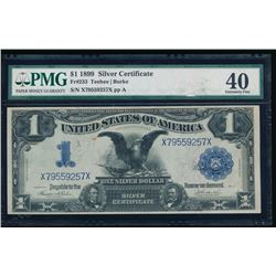 1899 $1 Black Eagle Silver Certificate PMG 40