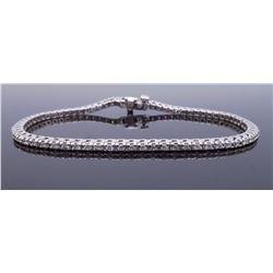 14KT White Gold 1.40ctw Diamond Bracelet
