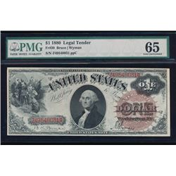 1880 $1 Legal Tender Note PMG 65