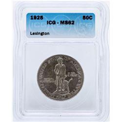 1925 Lexington Commemorative Half Dollar Coin ICG MS62
