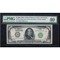 1928 $1000 Cleveland Federal Reserve Note PMG 40