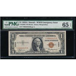 1935A $1 Hawaii WWII Emergency Silver Certificate PMG 65EPQ