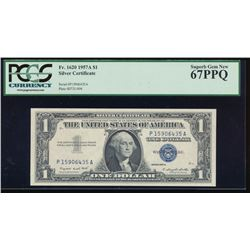 1957A $1 Silver Certificate PCGS 67PPQ