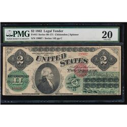 1862 $2 Legal Tender Note PMG 20