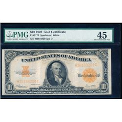 1922 $10 Large Gold Certificate PMG 45