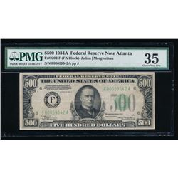 1934A $500 Atlanta Federal Reserve Note PMG 35