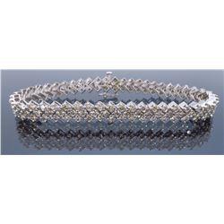 14KT White Gold 4.00ctw Diamond Bracelet