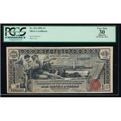1896 $1 Silver Certificate PCGS 30