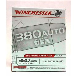 1 Box of 200 Rounds Winchester 380 Auto.