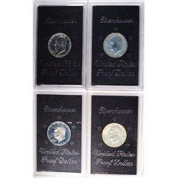 1971-1974 Proof Eisenhower Silver Dollars
