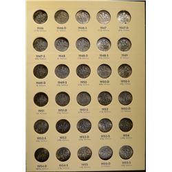 1946-64-D CIRC ROOSEVELT DIME SET 48-COINS