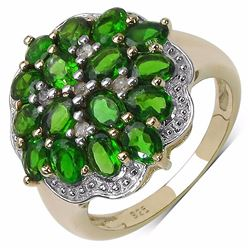 Sterling Silver Chrome-Diopside Ring