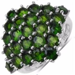 Starling Silver Chrome-Diopside Ring