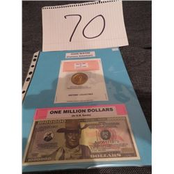1999 Elizabeth ll Millennium five lb coin