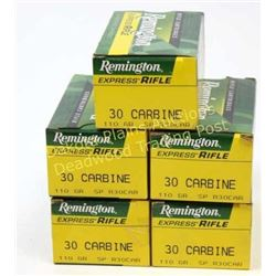 Remington 30 Carbine 5 full boxes.  Est. 75-125