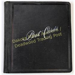 Post card album with approx. 100 cards dating to around the turn of the century.  Est. 75-125