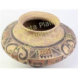 "Sityatki pot recreation by deceased artist Bill Freeman 1927-2012.  Artist signed.  2008 P7197 15"" d"