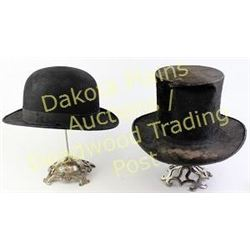 d636d1c4709 Collection of two antique hats includes Thomas Seeds Philadelphia ...