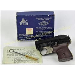 Pic Model 19x blank starter pistol for .22 crimped blanks, original box, paper work, no FFL required