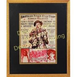 "Shadow box framed reprint Buffalo Bill Cody's Wild West Show poster, frame size 18""X22"".  Est. 50-10"
