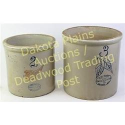Collection of two stoneware jars 2 and 3 gallon, marked Redwing, no cracks.  Est. 75-150