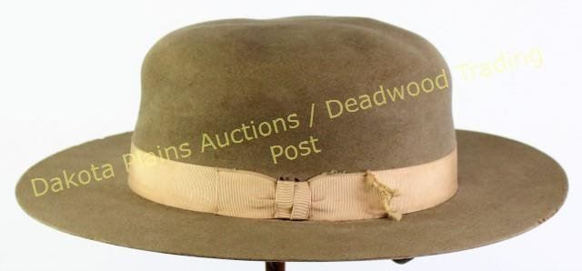 d658c8e93 Turn of the century Stetson hat flat brim, these hats were referred ...